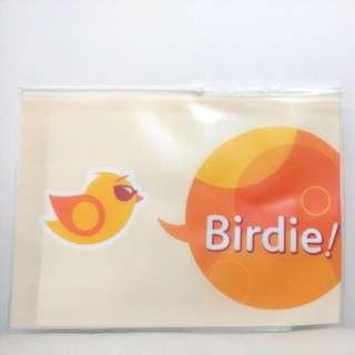 Birdie 自由鳥 A4 文件袋, 頂可拉封嘴 (全新)