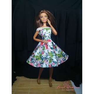 Botanical Sunday Dress March 2018 Collection Barbie Clothes