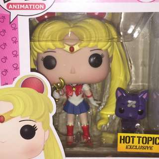 Sailor Moon Hot Topic Exclusive with Moon Stick Wand and Luna
