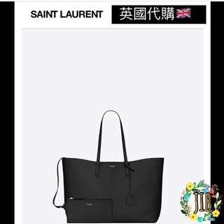 Saint Laurent❤️ SHOPPING SAINT LAURENT TOTE BAG IN BLACK LEATHER