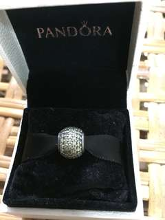 BNIS pandora fancy Golden Pave ball charm