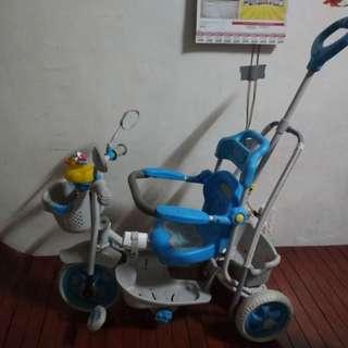 Blue Push bike