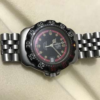 80%new swiss made TAG HEUER boy 裝石英潛水錶