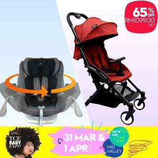 65% OFF Royal Kiddy London Air Transporter Lightweights Compact Stroller & RK Beyond 360 Rotating ISOFIX Car Seat Bundle Set