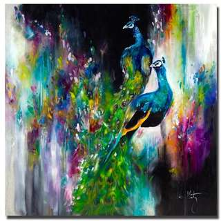 Peacock Handpainted Canvas Oil Painting