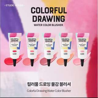 BNIB ETUDEHOUSE COLORFUL DRAWING BLUSHER PK001