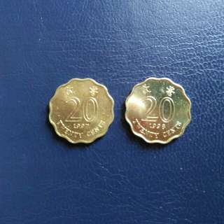 Hong Kong 20 Cents