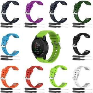 100%全新 GARMIN  FORERUNNER FENIX  series watch straps 系列代用膠錶帶 送工具螺絲2支