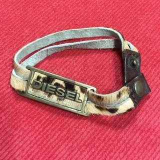 🚚 DIESEL豹紋手環MADE IN ITALT