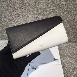 Black & white long wallet