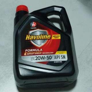 Caltex Havoline 4L Engine Oil 20W-50 API SN