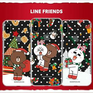 聖誕LINE friend iPhone Case