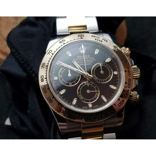 二手 Rolex Two Tone Daytona BLACK