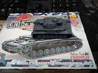 Panzer -iv Tank 4D Brick