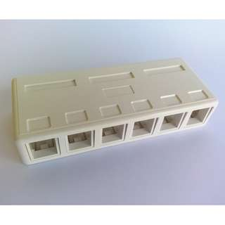 6 Keystone box RJ45 ethernet RJ11/RJ12 phone