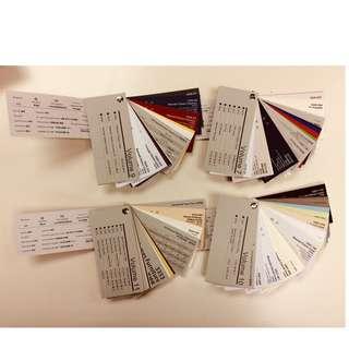 Free Paper samples / 免費紙樣版