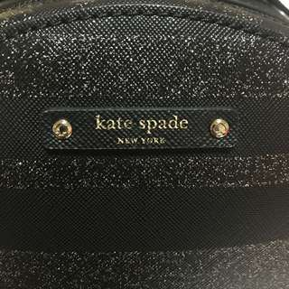 100% AUTHENTIC KATE SPADE BLACK GLITTER BACKPACK