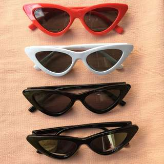 Retro cat eye sunglasses (free hard case)
