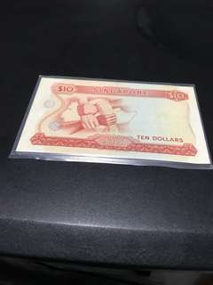 $10 orchid note, signed Dr Goh Keng Swee