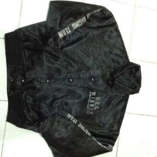 Black Bomber Jacket Coach Jacket