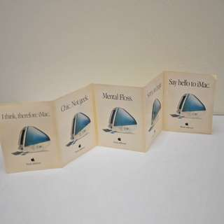 Vintage Set of 5 'Think Different' Bondi iMac Stickers