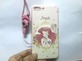 小魚仙 美人魚 Ariel 全新iphone7/8plus 電話殼🧜🏻♀️連電話繩