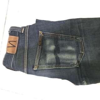 Celana jeans Nudie grim tim dry navy