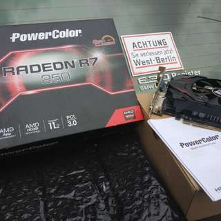 FULL Set VGA gaming Ati radeon R7 250 2gb 128bit Gddr 5 GREGET! Bukan colorful,  gigabyte, msi, asus.