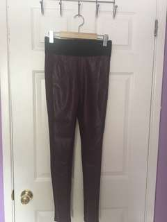 Size small leather front tights
