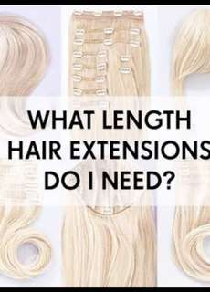 HAIR EXTENSIONS LENGTHS TO HELP YOUR CORRECT QUOTATIONS
