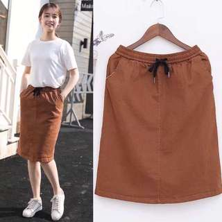 (XL~4XL) High waist one-step dress bag hip skirt skirt a word skirt spring and autumn models
