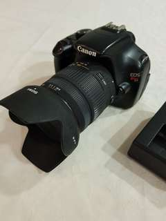 Canon DSLR EOS Rebel T3 with Sigma 18 - 200 mm