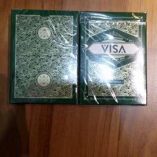 CHEAP VISA PLAYING CARDS 2 SET