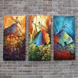 Three Dancers Handpainted Canvas Oil Painting