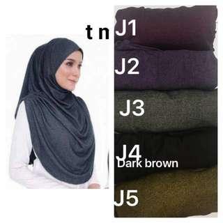 Instant Tudung denim hijab not shawl Telekung jubah