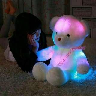 Teddy bear LED boneka beruang import 50cm