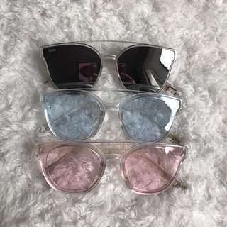 [Bnew] Transparent Tinted Sunnies Shades Sunglasses