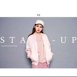 轉賣Lulus 粉色飛行外套 可換物