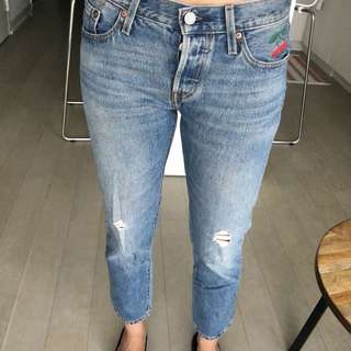 Levi's 501 custom&tapered 25/26 waist vintage looking jeans