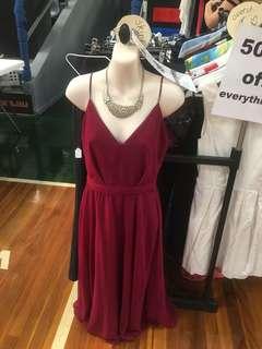 Sheer bridesmaids dress