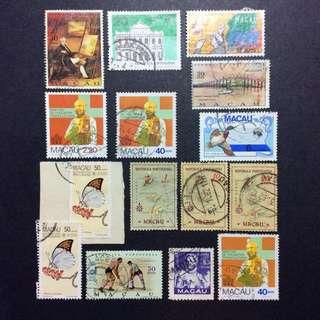 澳門郵票 蓋銷票