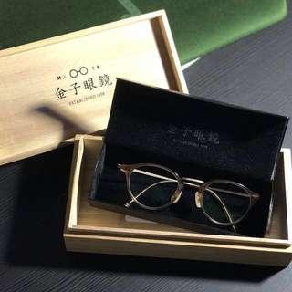 日本 人手手造 金子眼鏡 鈦金屬 KV-01 BE 超輕 有單