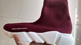 Balenciaga Shoes (maroon and pink)