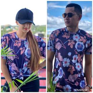 Tropical floral unisex tshirt