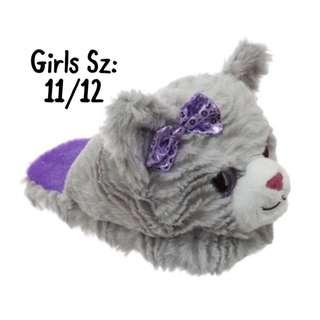 NWT Girls Critter Cat Slipper Sz: 11/12