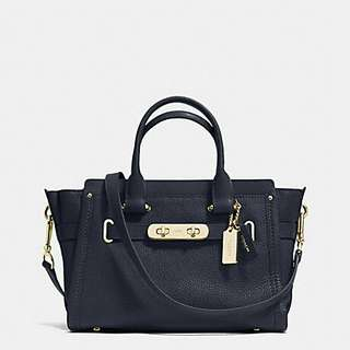 COACH SWAGGER 27 IN PEBBLE LEATHER COACH ( F34816)