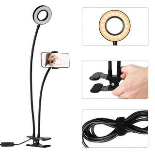 MOCA 9CM 3 Light Mode LED Selfie Diameter USB powered Dimmable Aluminium Phone Ringlight