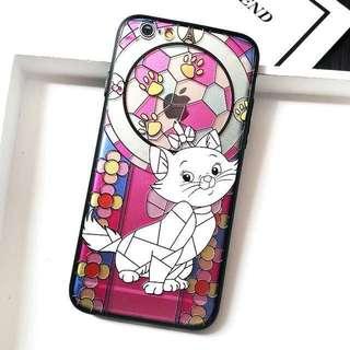 「買2送1」 iPhone 彩繪凹凸感電話殼 Marie 多款型號