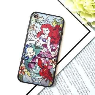 「買2送1」 iPhone 彩繪凹凸電話殼 人魚公主 多款型號