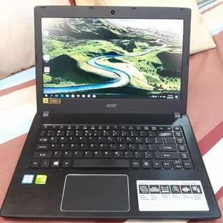 Acer Aspire E14 Core i5 7thgen Nvidia 940MX / 4GB RAM & 1TB HDD